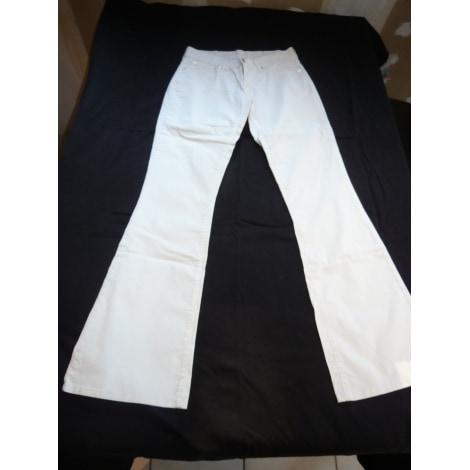 Jeans évasé, boot-cut LEVI'S Blanc, blanc cassé, écru