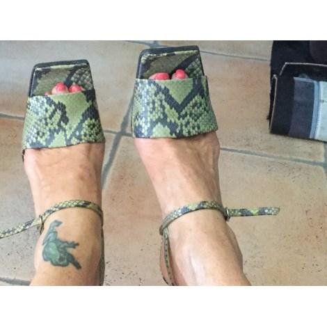 Escarpins à bouts ouverts FREE LANCE Vert
