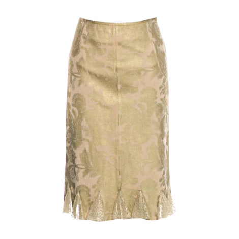 Midi Skirt VALENTINO Golden, bronze, copper
