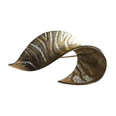 Broche GIVENCHY Doré, bronze, cuivre