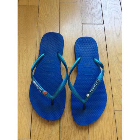 Tongs HAVAÏANAS Bleu, bleu marine, bleu turquoise