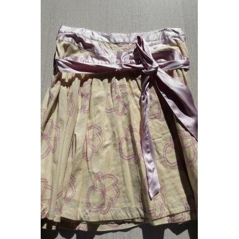 Midi Skirt MARC JACOBS jaune pastel et rose poudre