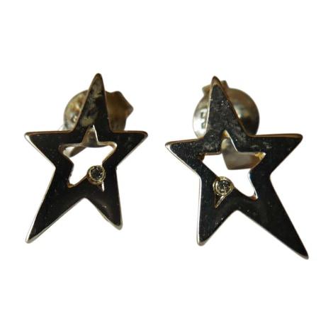 Boucles d'oreilles THIERRY MUGLER Argenté, acier