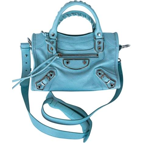 Sac à main en cuir BALENCIAGA City Bleu, bleu marine, bleu turquoise
