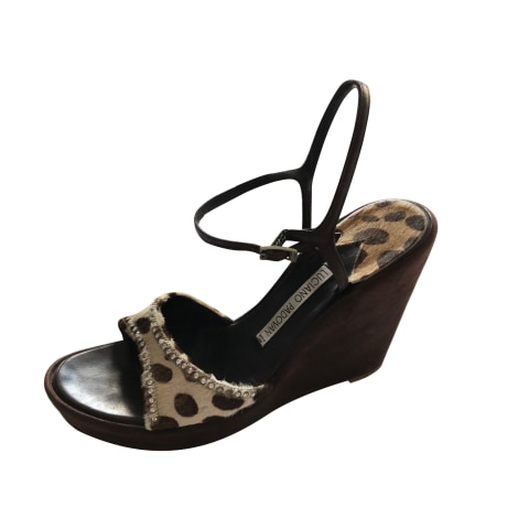 Sandales compensées LUCIANO PADOVAN Marron