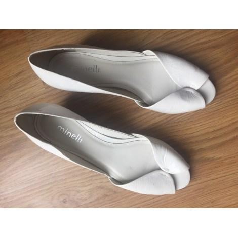 Sandales compensées MINELLI Blanc, blanc cassé, écru