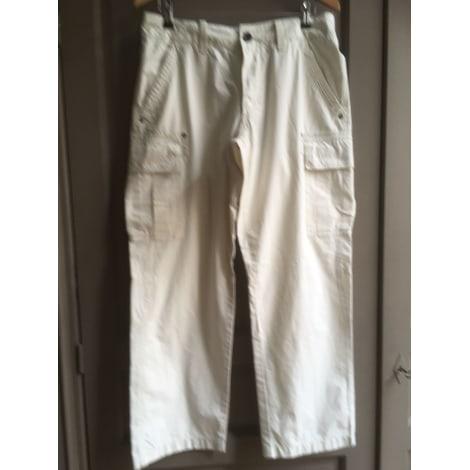 Pantalon large NAPAPIJRI Blanc, blanc cassé, écru