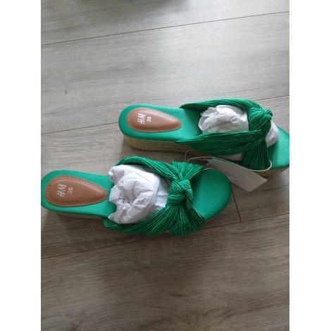 Sandales compensées H&M Vert