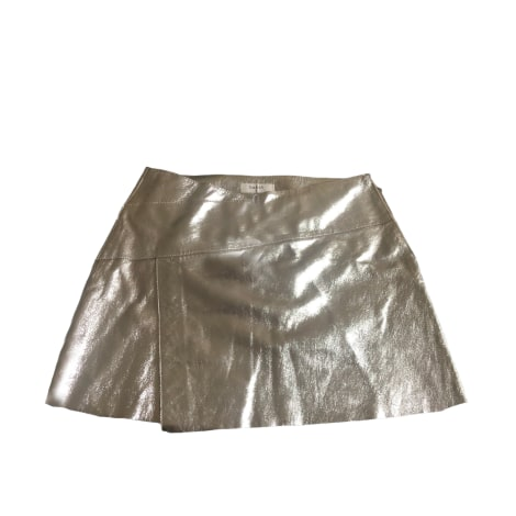 Jupe courte BA&SH Doré, bronze, cuivre