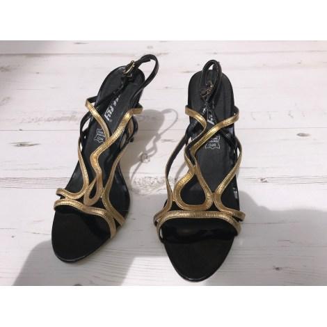 Sandales à talons BEE FLY Doré, bronze, cuivre