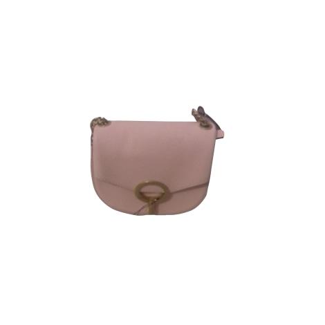 Leather Shoulder Bag SANDRO Pink, fuchsia, light pink