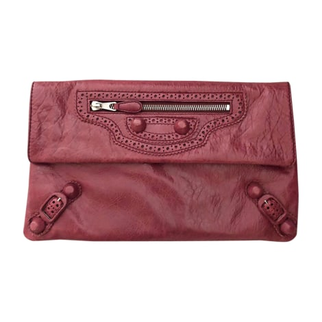 Leather Clutch BALENCIAGA Pink, fuchsia, light pink