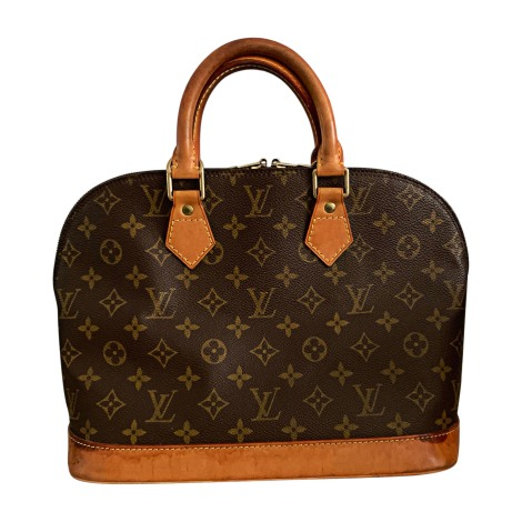 Sac à main en cuir LOUIS VUITTON Alma Marron