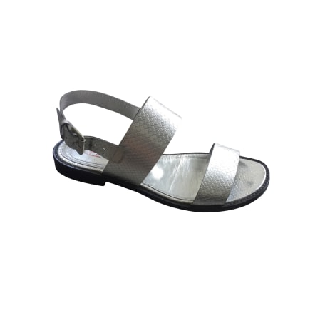 Sandales plates  FREE LANCE Argenté, acier