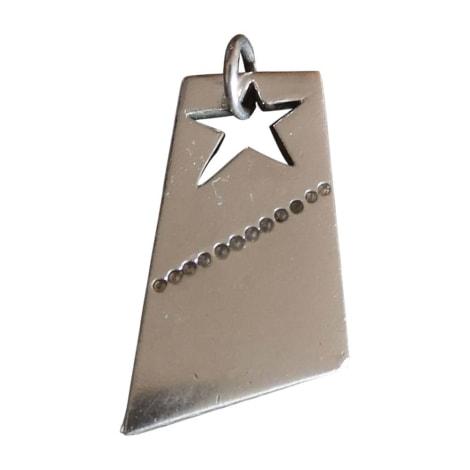 Pendentif, collier pendentif THIERRY MUGLER Argenté, acier