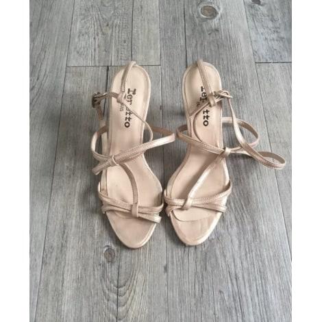 Sandales à talons REPETTO Doré, bronze, cuivre