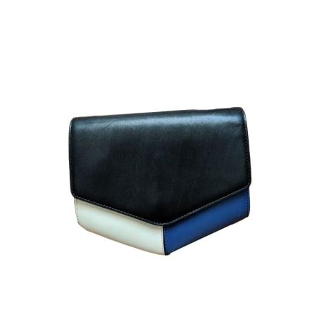 Schultertasche Leder SANDRO Blau, marineblau, türkisblau