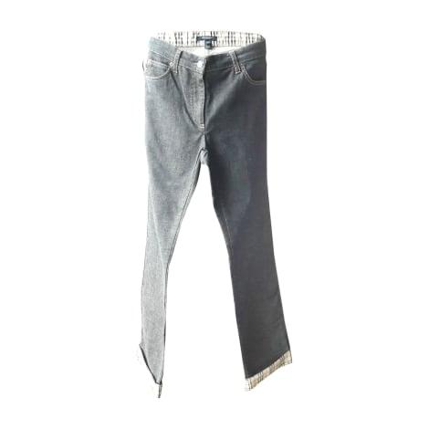 Jeans droit BURBERRY Gris, anthracite