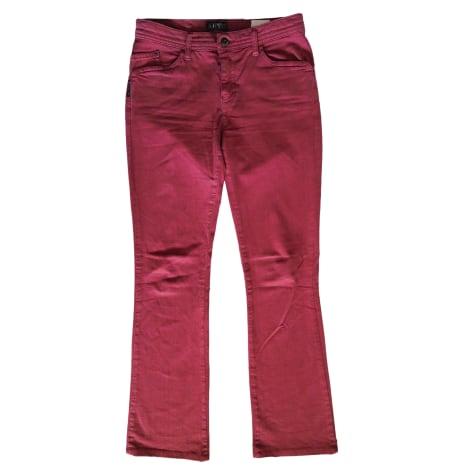 Jeans évasé, boot-cut ARMANI JEANS Rose, fuschia, vieux rose