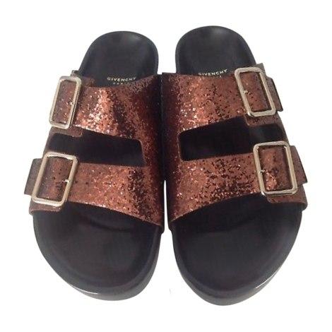 Sandales plates  GIVENCHY Marron