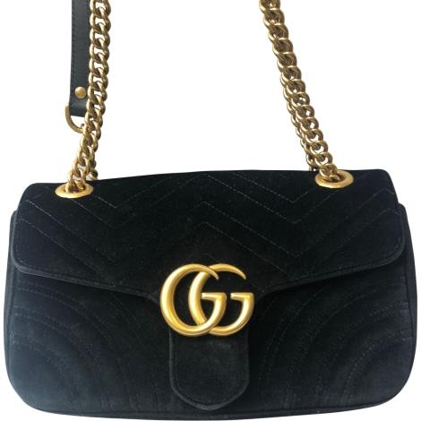 Non-Leather Handbag GUCCI Marmont Black