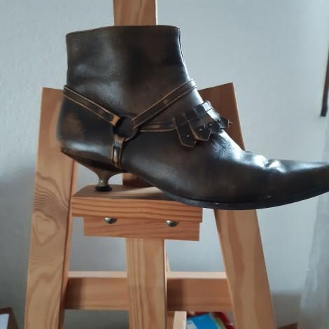 Bottines & low boots à talons CHARLES JOURDAN Kaki