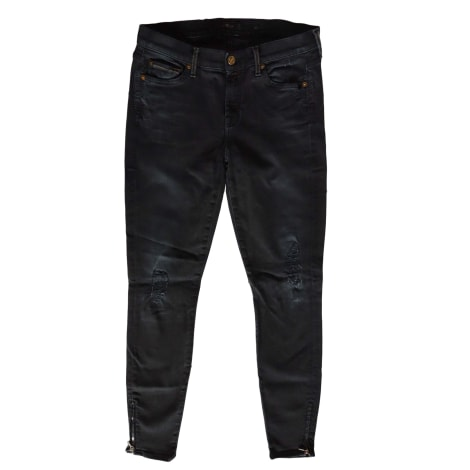 Jeans slim 7 FOR ALL MANKIND Noir