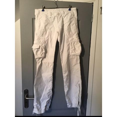 Jeans droit LE TEMPS DES CERISES Blanc, blanc cassé, écru