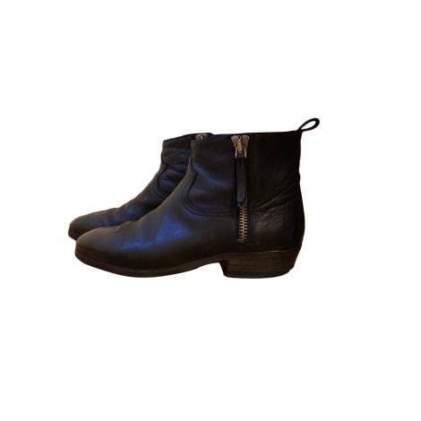 Flat Ankle Boots GOLDEN GOOSE Black