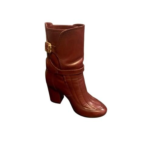 Bottines & low boots à talons ZADIG & VOLTAIRE Rouge, bordeaux