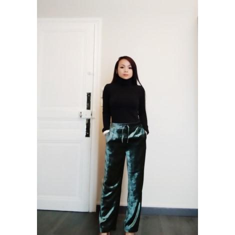 Pantalon MANGO Vert