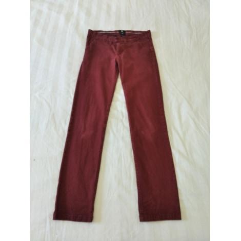 Jeans large, boyfriend DOLCE & GABBANA Rouge, bordeaux