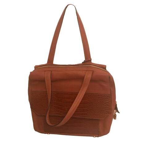 Leather Handbag LE TANNEUR Camel