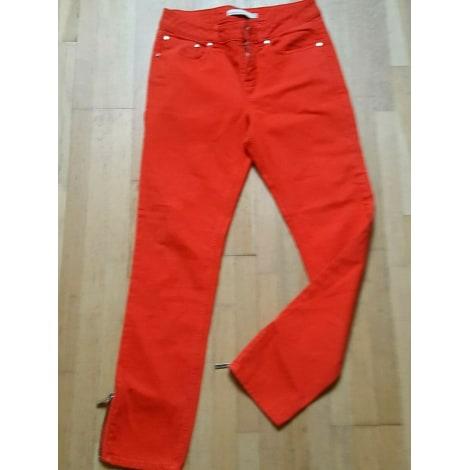 Jeans droit KAREN MILLEN Rouge, bordeaux
