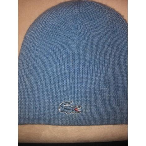 Bonnet LACOSTE Bleu, bleu marine, bleu turquoise