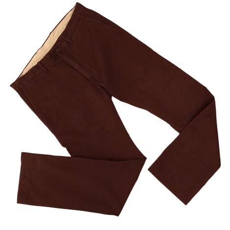 Pantalon droit J CREW Rouge, bordeaux