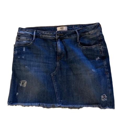 Jupe en jean LE TEMPS DES CERISES Bleu, bleu marine, bleu turquoise