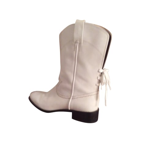 Santiags, bottes cowboy SEE BY CHLOE Blanc, blanc cassé, écru