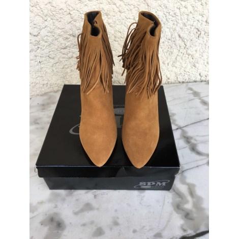Bottines & low boots à talons SPM Beige, camel