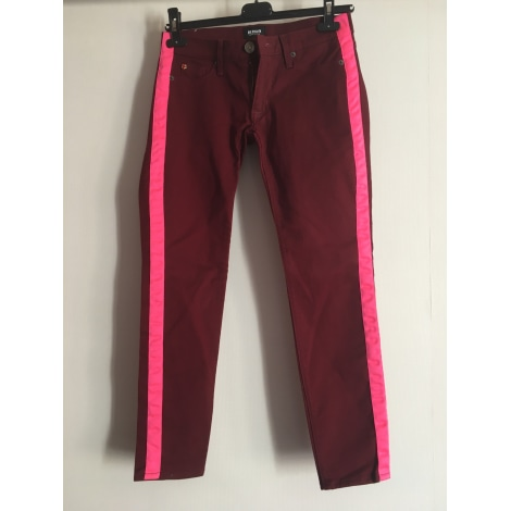 Pantalon slim, cigarette HUDSON JEANS Rouge, bordeaux