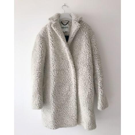 Manteau KENZO Blanc, blanc cassé, écru