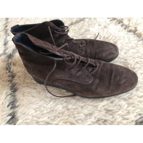 Bottines & low boots plates CAREL Marron