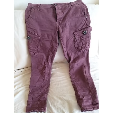 Pantalon droit PLEASE Violet, mauve, lavande