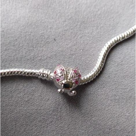 Bracelet CHARM ARGENT Rose, fuschia, vieux rose