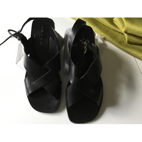 Sandali piatti JONAK Nero
