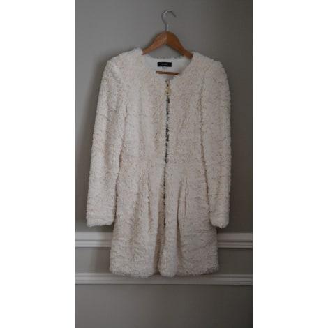 Manteau JUST ORNA Blanc, blanc cassé, écru