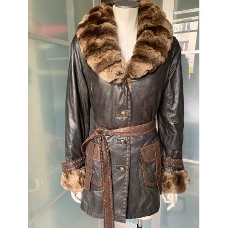Manteau en cuir GIOVANNI Marron