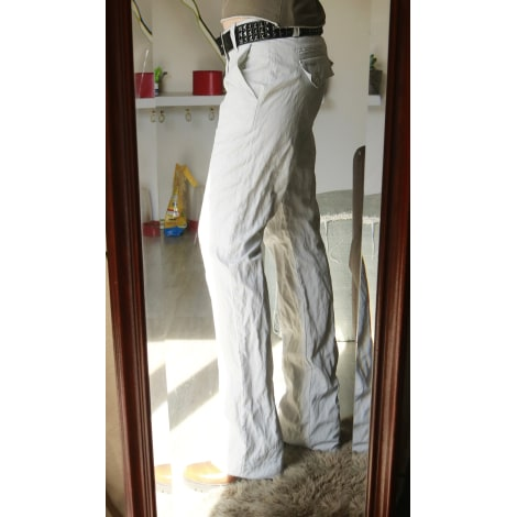 Pantalon droit FREEMAN T PORTER Blanc, blanc cassé, écru