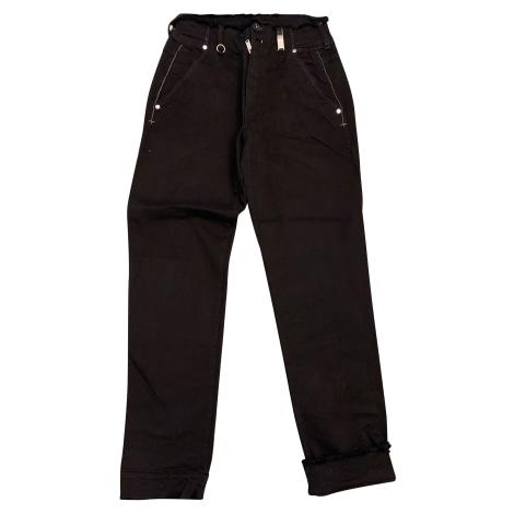 Pantalon slim, cigarette HIGH Noir