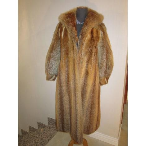 Manteau en fourrure MARQUE INCONNUE Orange